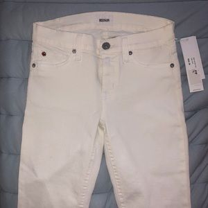 Size 26 Hudson Tally White Jeans - Skinny Crop